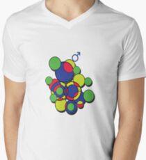 Circles of colour! Men's V-Neck T-Shirt