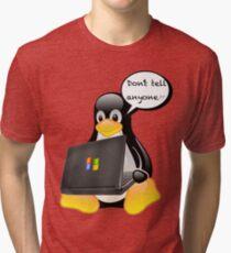 Don't tell anyone Tri-blend T-Shirt