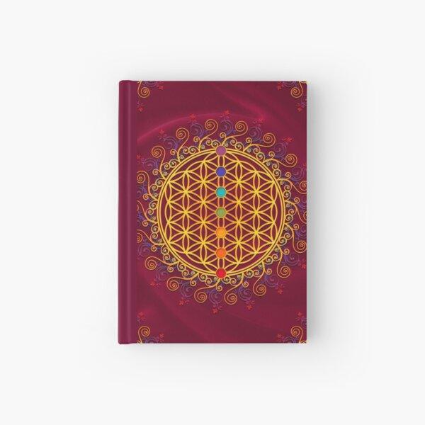 FLOWER OF LIFE, CHAKRAS, SPIRITUALITY, YOGA, ZEN,  Hardcover Journal