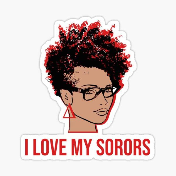 I Love My Sorors Delta Light Sticker