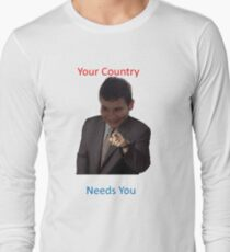 Your Country Needs You Phillip Style Long Sleeve T-Shirt