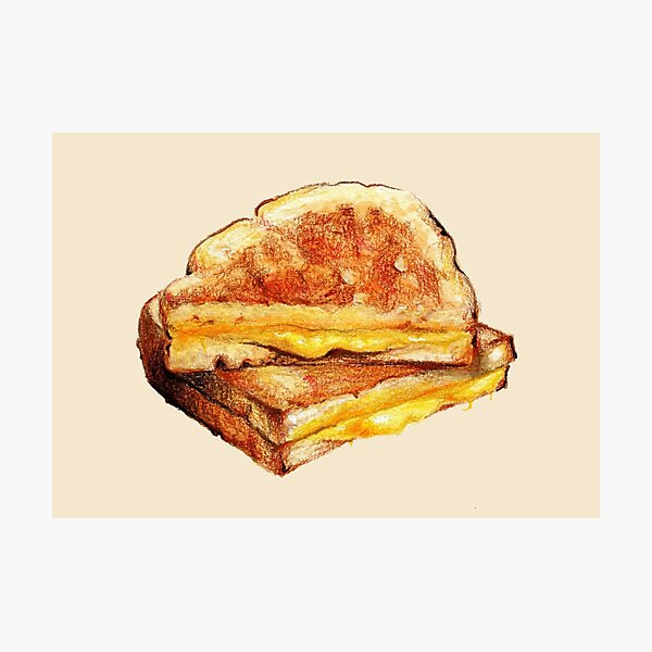 Grilled Cheese Sandwich Photographic Print