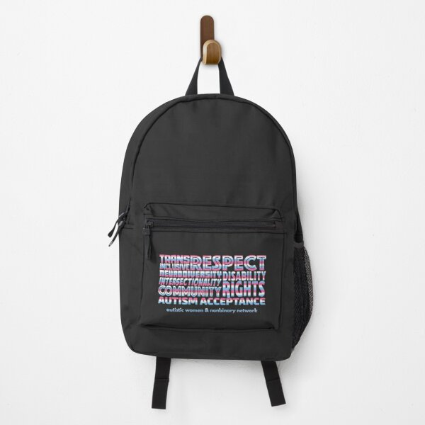 AWN Trans Pride Word Cloud Backpack