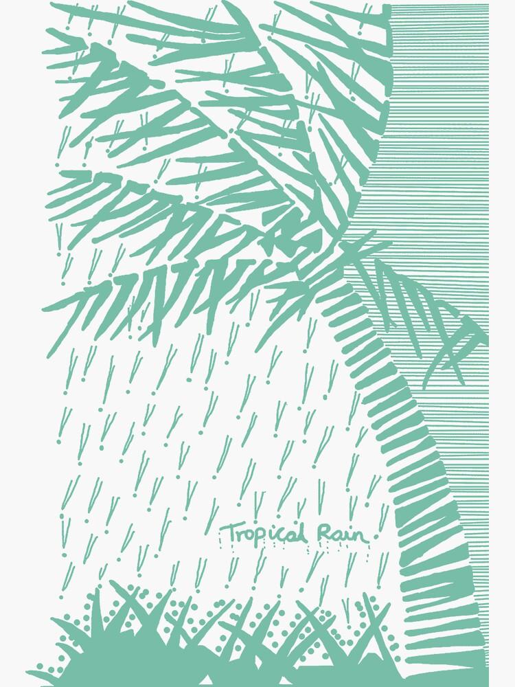Tropical Rain Cuba Green by hoxtonboy