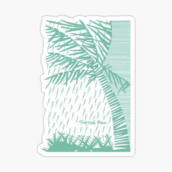 Tropical Rain Cuba Green Sticker