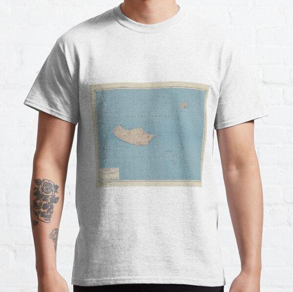 Vintage Madeira Island Map (1943) Classic T-Shirt