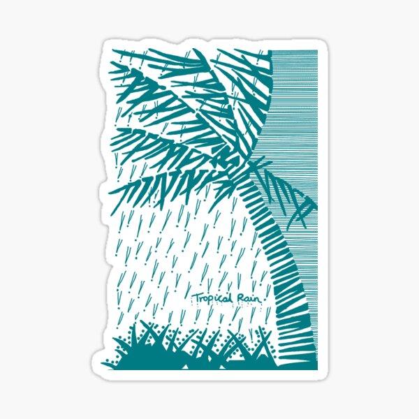 Tropical Rain Cuba Aqua Sticker