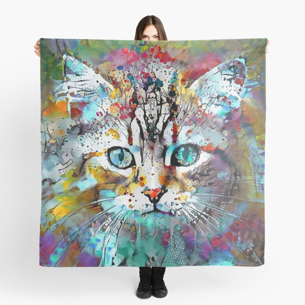 Abstractions of abstract abstraction of cat Scarf