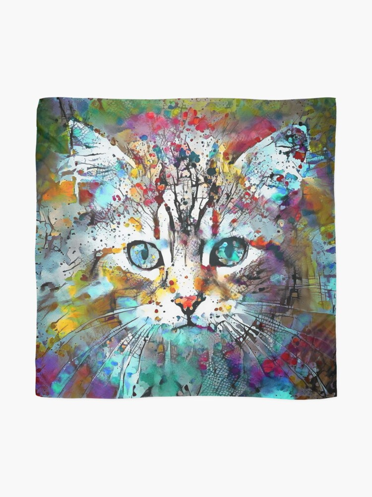 Alternate view of Abstractions of abstract abstraction of cat Scarf