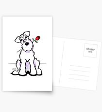 White Schnauzer Sweetheart Postcards