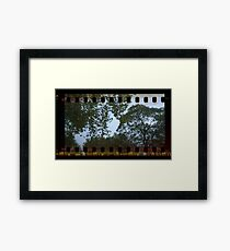Holga Sprockets Trees and Sky Framed Print