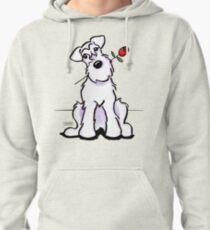 White Schnauzer Sweetheart Pullover Hoodie