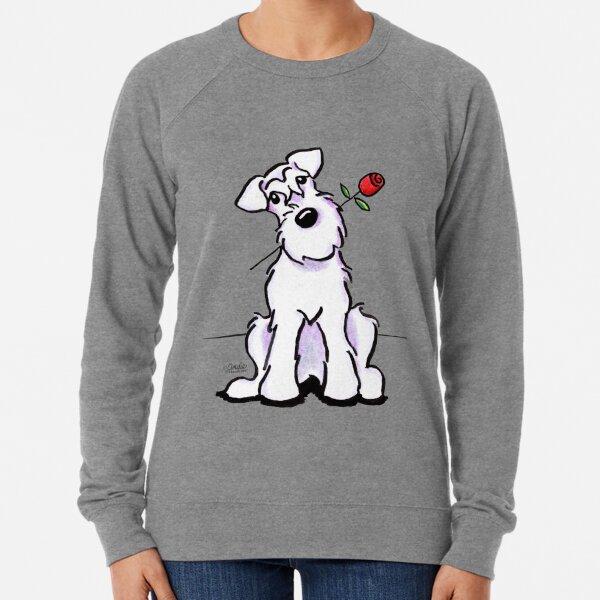 White Schnauzer Sweetheart Lightweight Sweatshirt