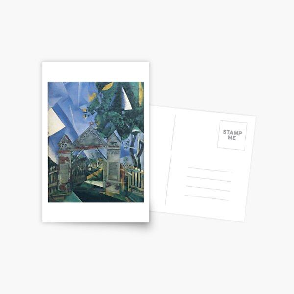 Les portes du cimetière (1917) de Marc Chagall Carte postale