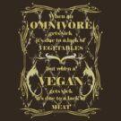 When a Vegan Gets Sick - Dark Ts by veganese