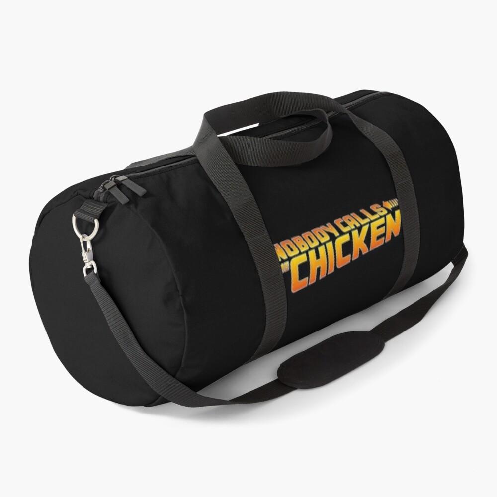 Nobody Calls Me Chicken BTTF Duffle Bag