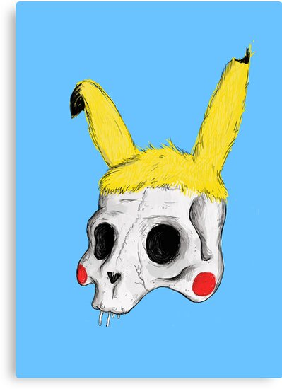 The Skull of Pikachu by Luke Thornhill