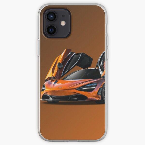 orange super McLaren p1 formule 1 design Coque souple iPhone