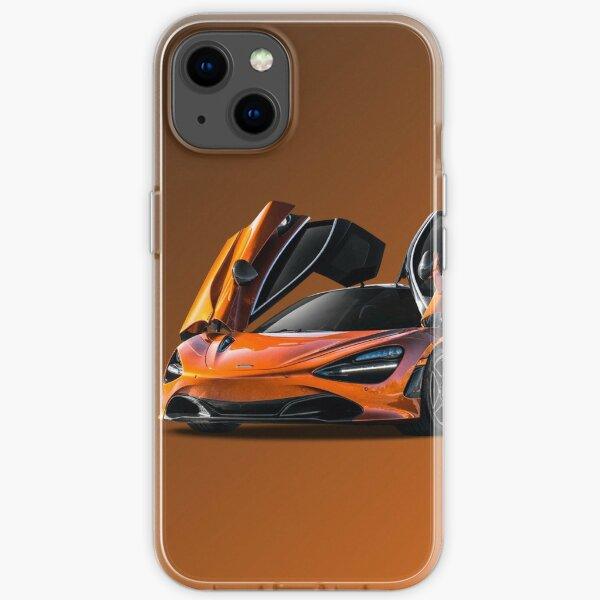 orange super McLaren p1 formula 1 design iPhone Soft Case