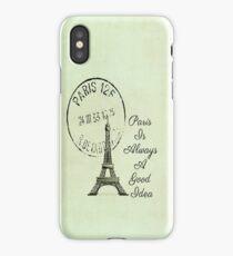 Paris Is Always A Good Idea Vintage White  iPhone Case/Skin