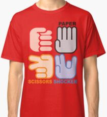 Rock Paper Scissors Shocker Classic T-Shirt