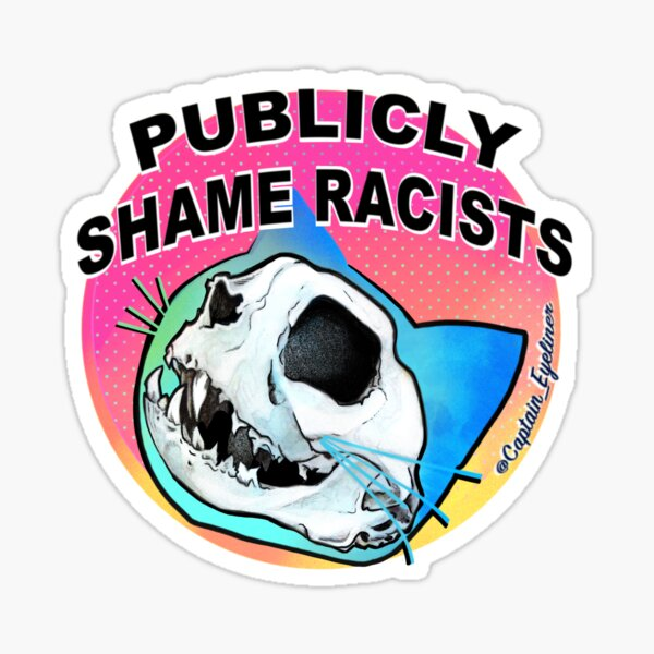 Publicly Shame Racists Sticker