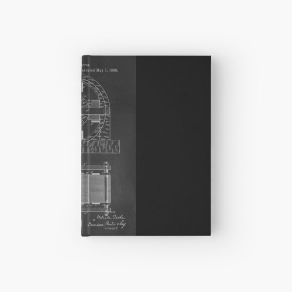 Tesla Coil Patent Art Hardcover Journal