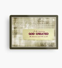 ~ God is Creative ~ Metal Print