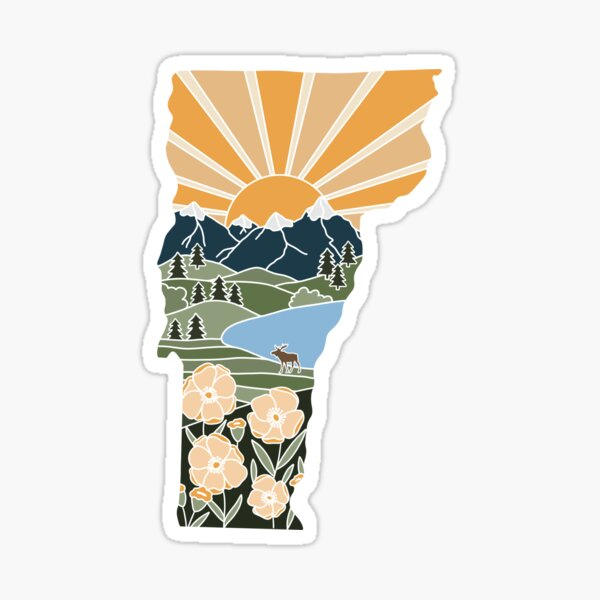 Vermont Illustrated Graphic Sticker