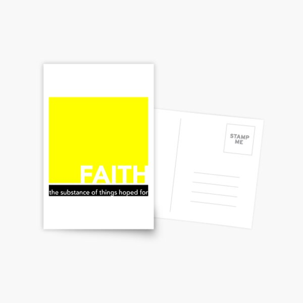Faith - The substance of things hoped for - bold design Postcard