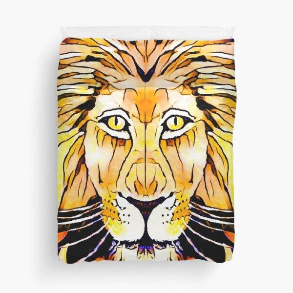 Golden Lion, King of Beasts Duvet Cover