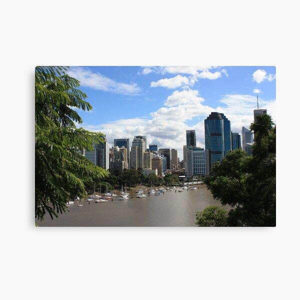 Brisbane from Kangaroo Point Cliffs Canvas Print