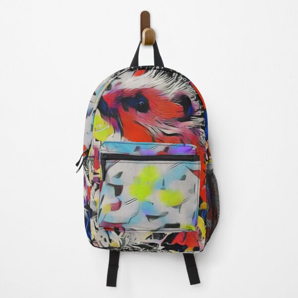 Pop Art Hedgehog Featuring Bold Colors Backpack