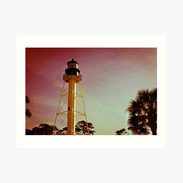 Cape San Blas Lighthouse Art Print