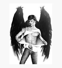 Sexy Benedict Cumberbatch / Winged Sherlock V1 Photographic Print