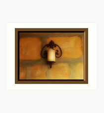 Candle on The Wall Art Print