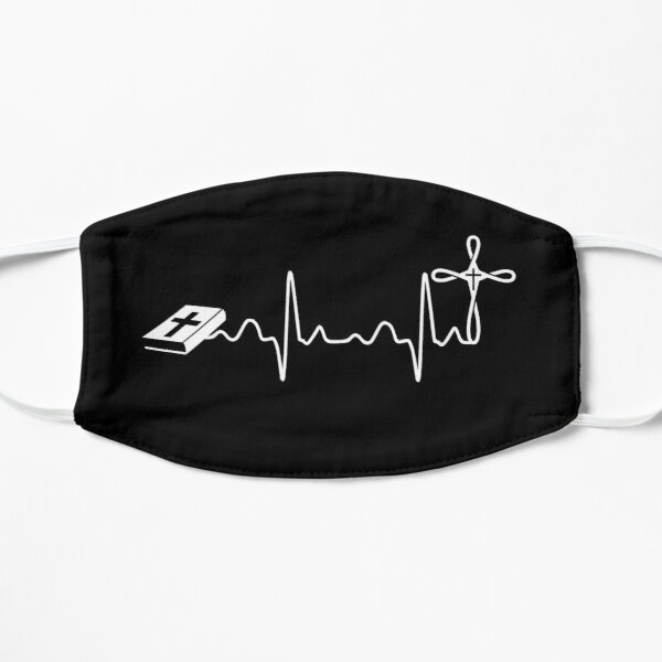 Christian Cross Heartbeat God Jesus Religious Cool Gift Ideas Mask