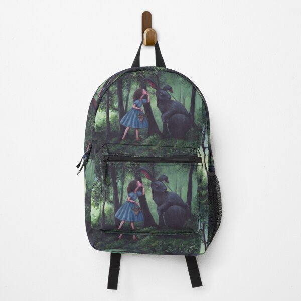 Whispering to the Black Rabbit Backpack