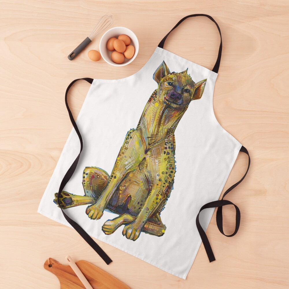 Spotted Hyena Painting - 2012 Apron