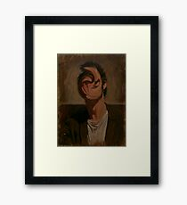 Self Portrait With Deformed Face Framed Print