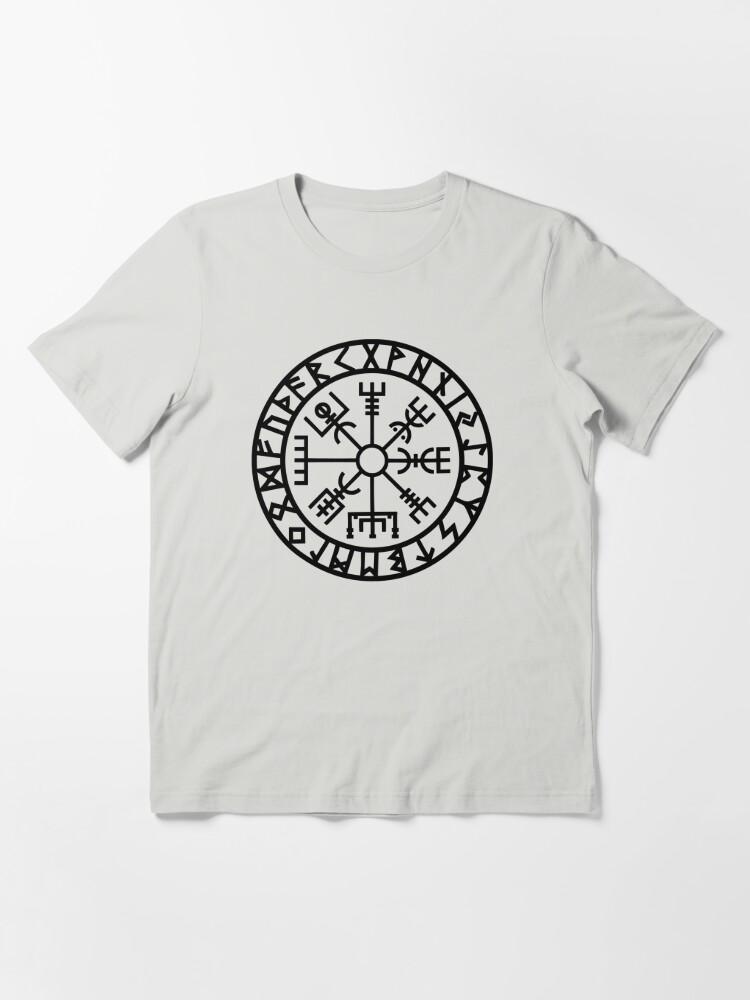 Alternate view of Vegvisir - Futhark - Runes - Navigator - Vikings Essential T-Shirt
