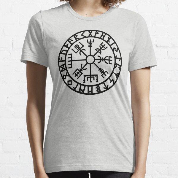 Vegvisir - Futhark - Runes - Navigator - Vikings Essential T-Shirt