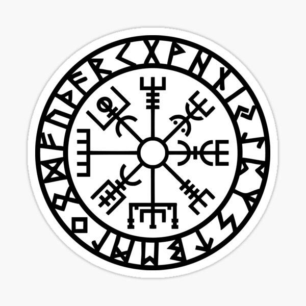 Vegvisir - Futhark - Runes - Navigator - Vikings Sticker