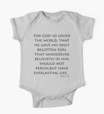 John 3:16 - King James (Bible Verses) Kids Clothes