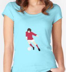 Minimalist George Best design Women's Fitted Scoop T-Shirt