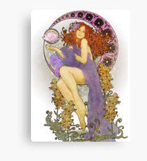 Redhead Nouveau Canvas Print
