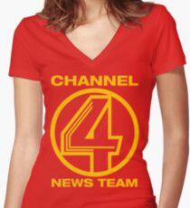 Channel 4 News Team Shirt Women's Fitted V-Neck T-Shirt