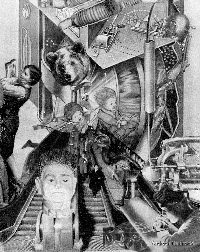 Escalator Into the Mind. by Andrew Nawroski