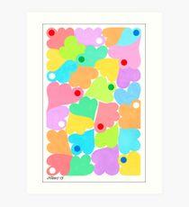 PASTEL COLORS ART Art Print