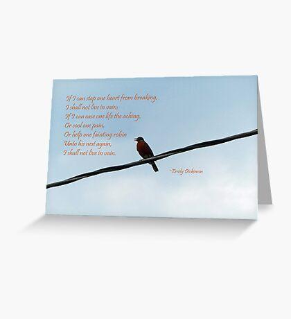 Robin ~ Emily Dickinson Greeting Card Greeting Card